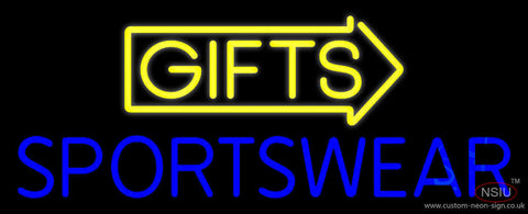 Yellow Gifts Sportswear Neon Sign