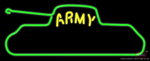 Yellow Army Neon Sign