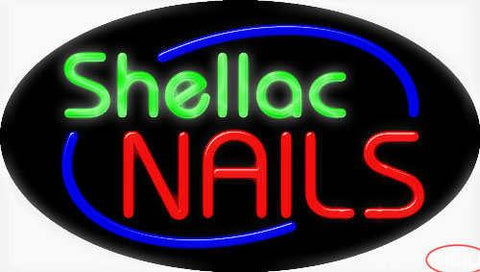 Shellac Nails Real Neon Glass Tube Neon Sign