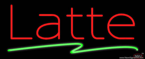 Red Latte Green Line Real Neon Glass Tube Neon Sign