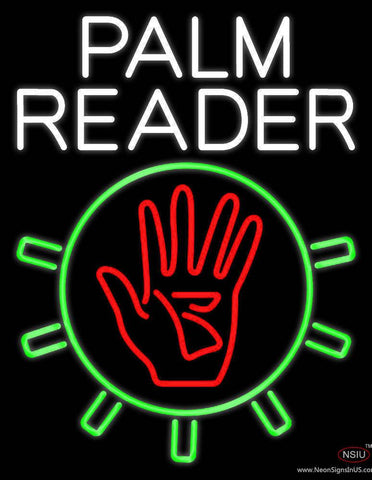 White Palm Reader With Logo Real Neon Glass Tube Neon Sign