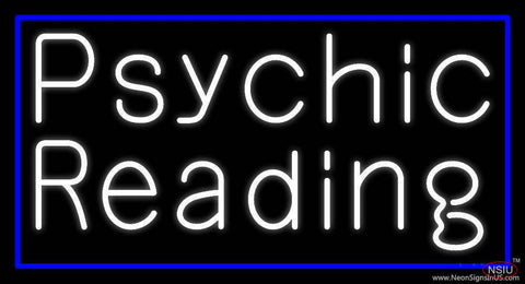 White Psychic Reading And Blue Border Real Neon Glass Tube Neon Sign