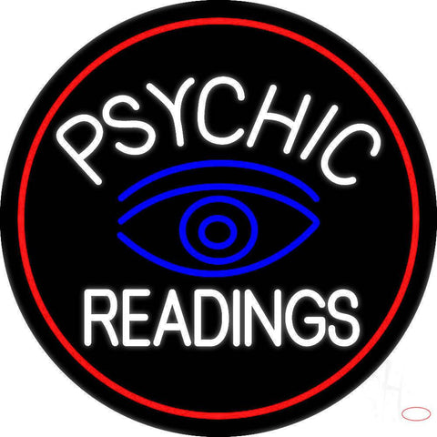 White Psychic Readings With Blue Eye Real Neon Glass Tube Neon Sign
