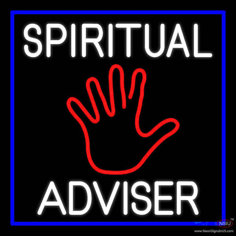 White Spiritual Advisor With Red Palm Real Neon Glass Tube Neon Sign