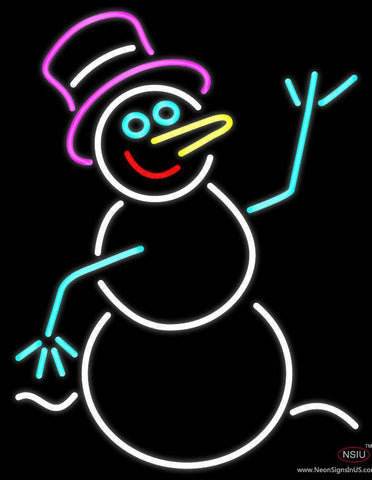 Snowman Real Neon Glass Tube Neon Sign