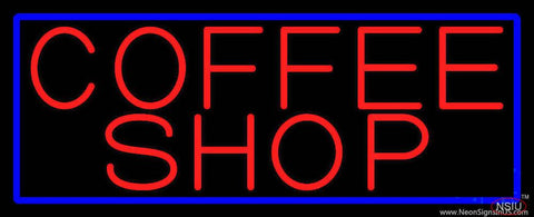 Red Coffee Shop Real Neon Glass Tube Neon Sign