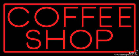 Red Coffee Shop With Red Border Real Neon Glass Tube Neon Sign