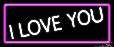 White I Love You Real Neon Glass Tube Neon Sign