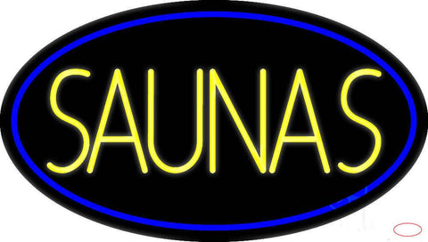 Yellow Saunas Real Neon Glass Tube Neon Sign