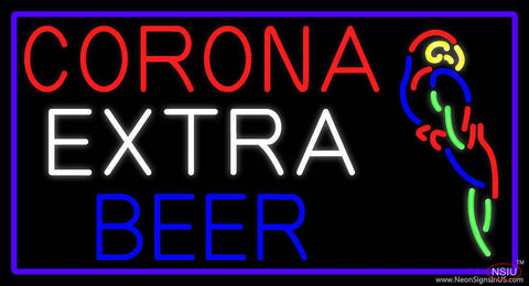Corona Extra Beer With Parrot Real Neon Glass Tube Neon Sign