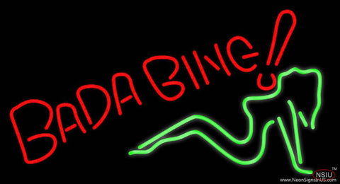 Bada Bing Girl Real Neon Glass Tube Neon Sign