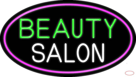Green Cursive Beauty Block Salon Real Neon Glass Tube Neon Sign