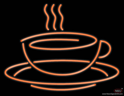 Coffe Cup Real Neon Glass Tube Neon Sign