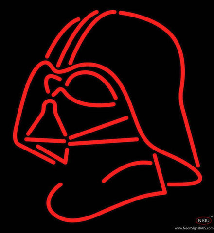 Darth Vader Helmet Star Wars Real Neon Glass Tube Neon Sign
