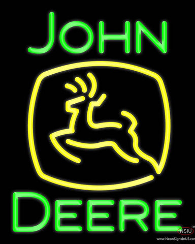 John Deere Real Neon Glass Tube Neon Sign
