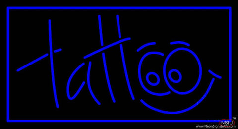 Blue Tattoo Real Neon Glass Tube Neon Sign