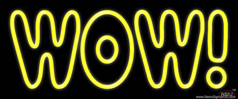 Wow Real Neon Glass Tube Neon Sign