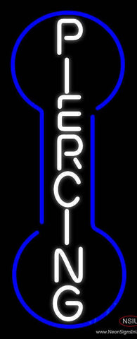 Vertical Piercing Real Neon Glass Tube Neon Sign
