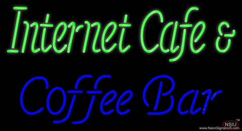 Internet Cafe And Coffee Bar Real Neon Glass Tube Neon Sign