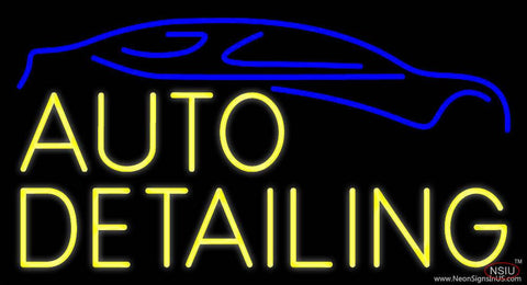 Yellow Auto Detailing  Real Neon Glass Tube Neon Sign
