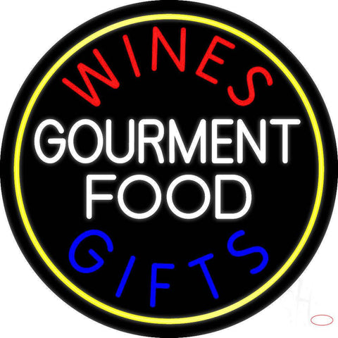Wines Food Blue Gifts Real Neon Glass Tube Neon Sign