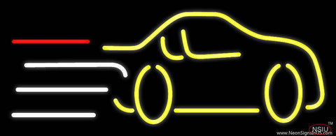 Yellow Car Logo Real Neon Glass Tube Neon Sign