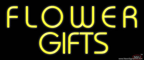 Yellow Flower Gifts In Block Real Neon Glass Tube Neon Sign