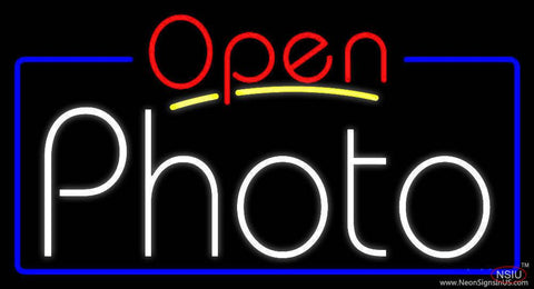 White Photo With Open  Real Neon Glass Tube Neon Sign
