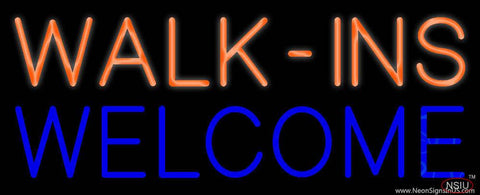 Yellow Walk Ins Pink Welcome Real Neon Glass Tube Neon Sign