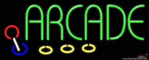 Green Arcade Real Neon Glass Tube Neon Sign
