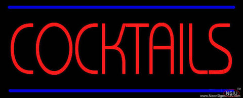 Red Cocktail Real Neon Glass Tube Neon Sign
