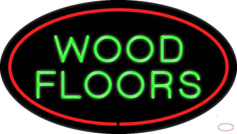 Wood Floors Oval Red Real Neon Glass Tube Neon Sign