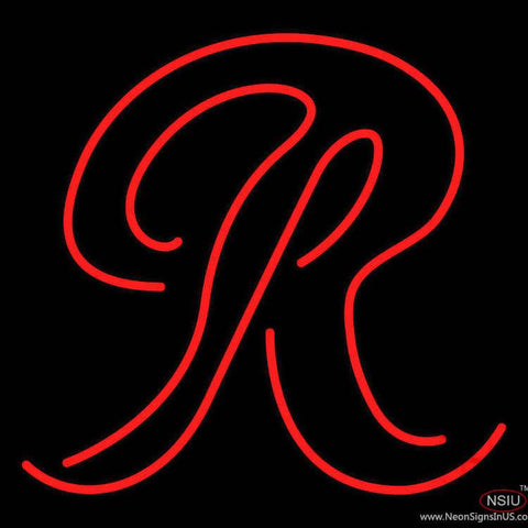 Rainier Beer Big R Real Neon Glass Tube Neon Sign