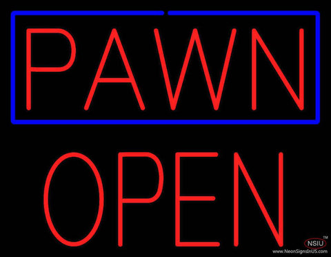 Red Pawn Block Open Real Neon Glass Tube Neon Sign