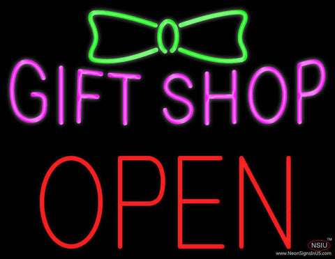 Gift Shop Block Open Real Neon Glass Tube Neon Sign