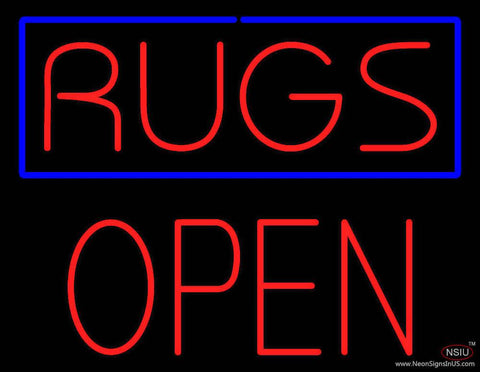 Rugs Block Open Real Neon Glass Tube Neon Sign