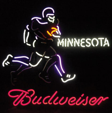 Neon Sign Budweiser Minnesota Football Animated