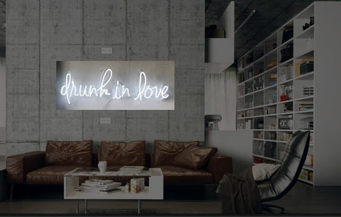 New Drunk In Love Neon Art Sign Handmade Visual Artwork Wall Decor Light