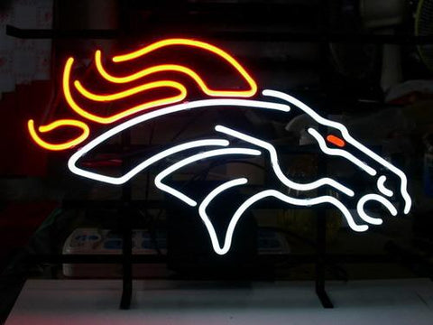 Nfl Denver Broncos Neon Sign With Free Priority
