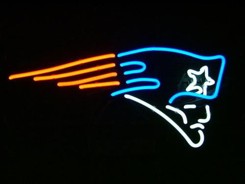 Nfl New England Patriots Real Neon Light Beer Sign