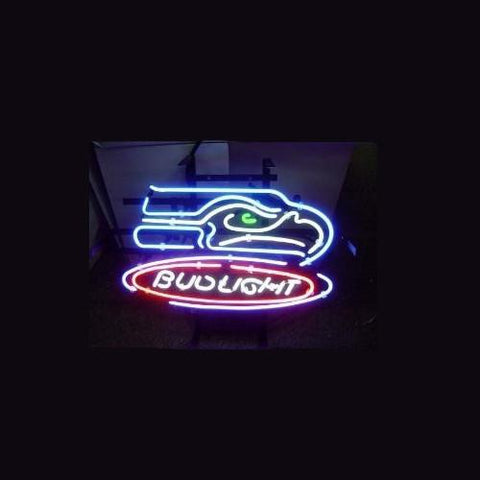 Nfl Seattle Seahawks Football Bud Light Neon Sign