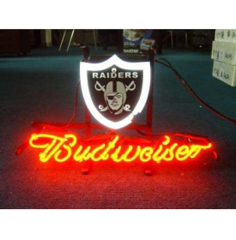 Oakland Football Budweiser Handicraft Font B Neon B Font Light Beer