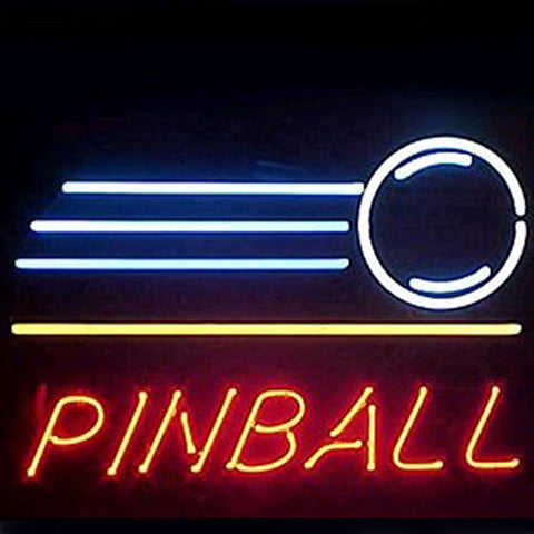 Professional  Pinball Shop Open Neon Sign