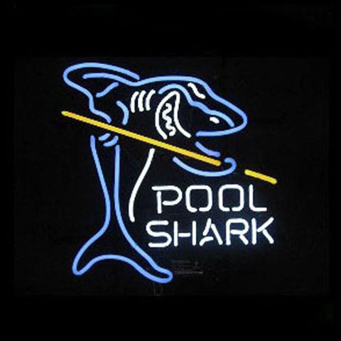 Professional  Pool Shark Shop Open Neon Sign