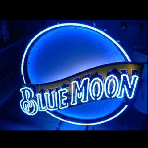 Blue Moon Beer bar neon sign