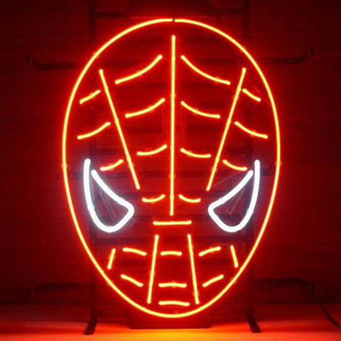 Professional  Red Spiderman Neon Sign