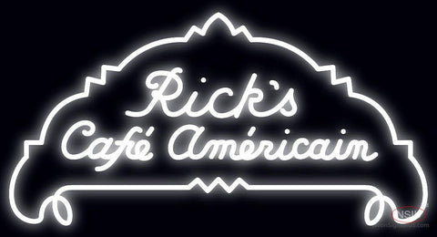 Rick's Cafe Americain Casablanca Neon Sign