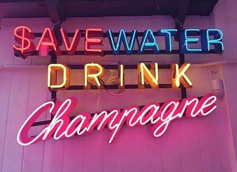 Save water Handmade Art Neon Signs
