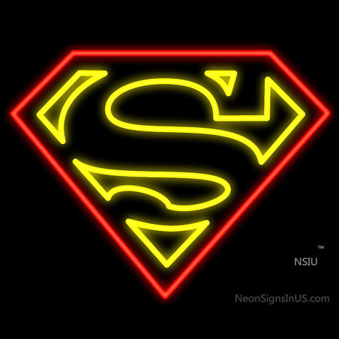 Superman Logo Neon Sign
