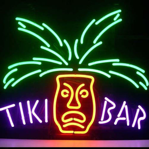 Professional  Tiki Bar Paradise Palm Beer Bar Open Neon Signs